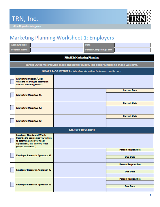 planning guide marketing planning for employer engagement 1 trn