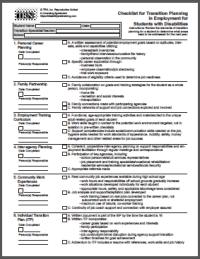 Transition Checklist for Employment